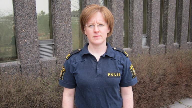 Polisförbundets ordförande i Dalarna Anna Ekstam
