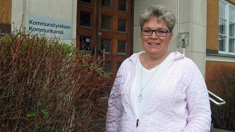 Mari Jonsson, socialdemokratisk ordförande i barn- och utbildningsnämnden i Borlänge. Foto: Eva Rehnström/Sveriges Radio.
