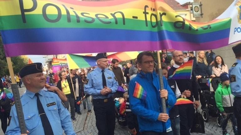 Pride-paraden i Falun förra året.