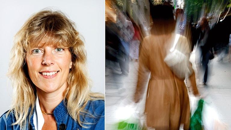 Ulrika holmberg och shoppande kvinna