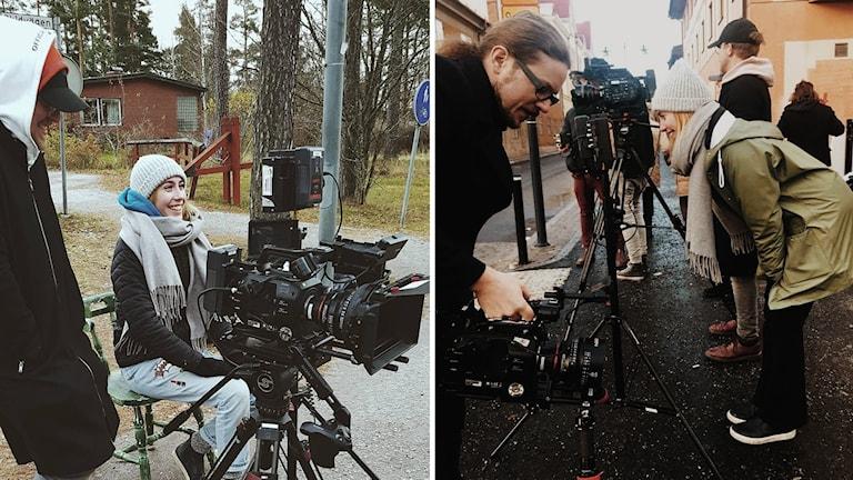 Filmstudenten Emelie Kastberg spelar in filmen #metoo