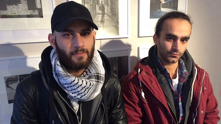 Basel Alahmad och Hasan Ayash från Syrien.