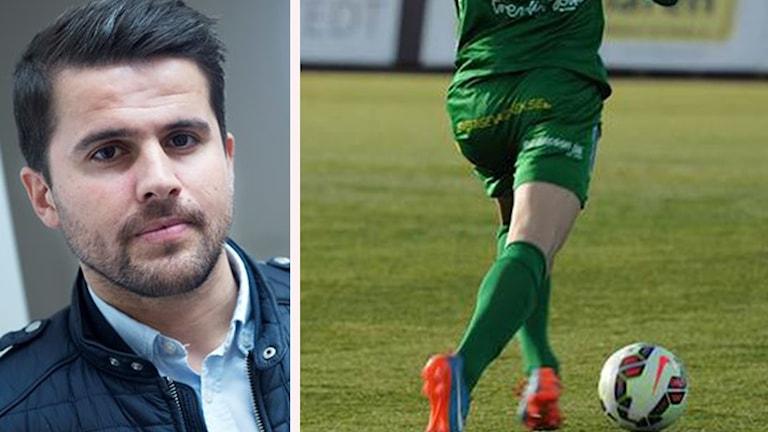 Adil Kizil och en bild på en spelare
