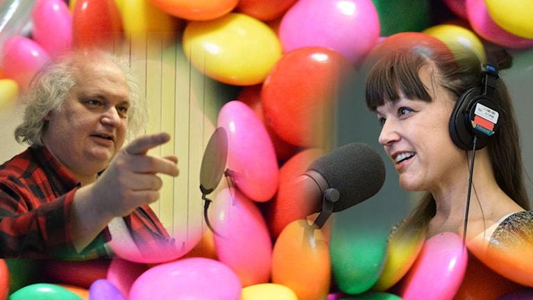Göran Greider, Carolin Dahlman, godis