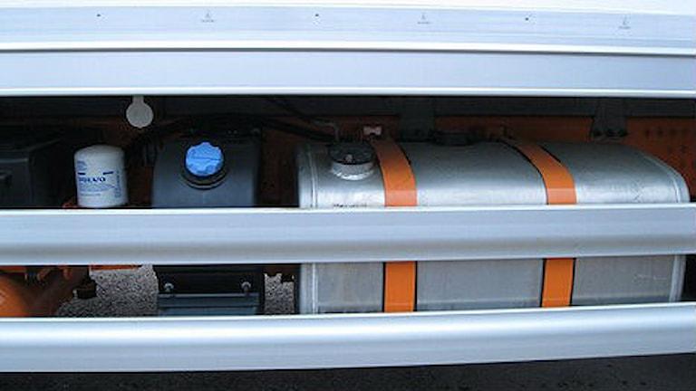 Istället får bilen tankas med diesel. Foto: Jennie-Lie Kjörnsberg/Sveriges Radio
