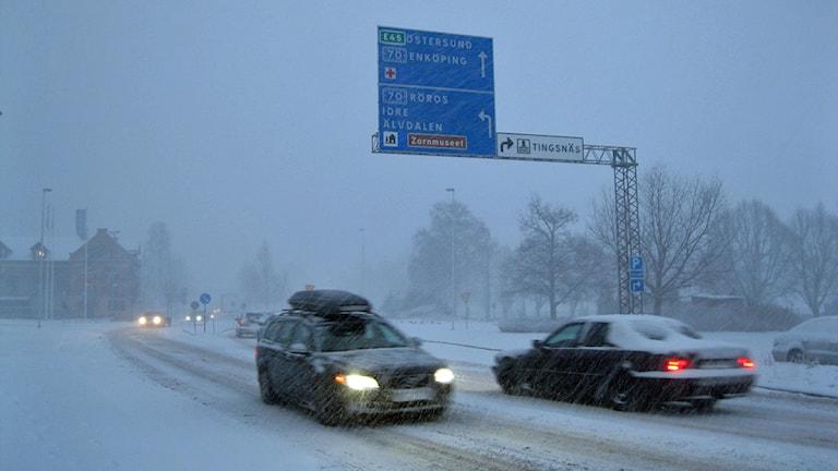 Snöoväder i Mora