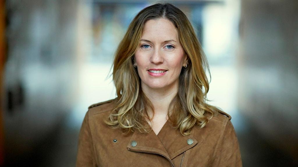 Helena Kubicek Boye i ljusbrunt hår och brun mockakavaj.