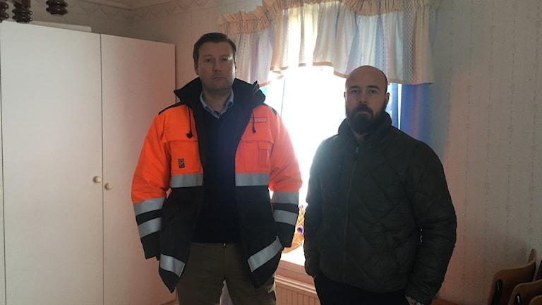 Johan Lindehag och Christian Jakobsson, VD respektive hållbarhetschef för elnätsbolaget Ellevio.