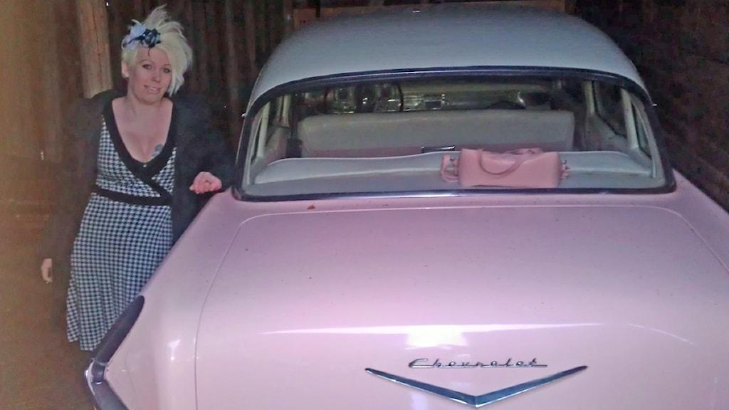 Angelica Fransson med sin Chevrolet Bel Air -57