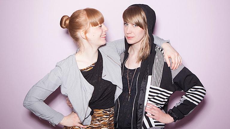 Emilia Henriksson och Malin Ringsby från bloggen Grrl Collection.