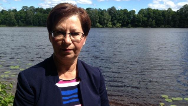 Anna Hagwall (SD) från Rättvik vill bli invald i riksdagen igen. Foto: Matilda Eriksson Rehnberg, Sveriges radio.