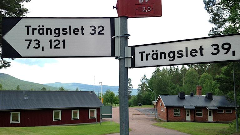 Trängslets skjutfält i Älvdalen, som under några veckor sommaren 2014 omvandlas till tillfälligt asylboende.