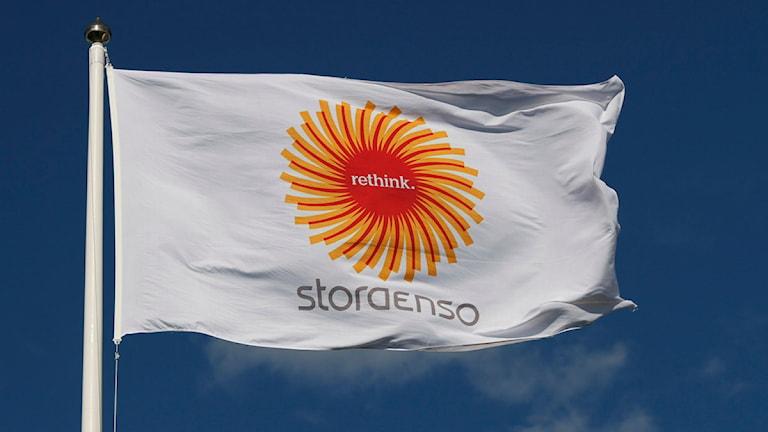 Stora Ensos flagga.