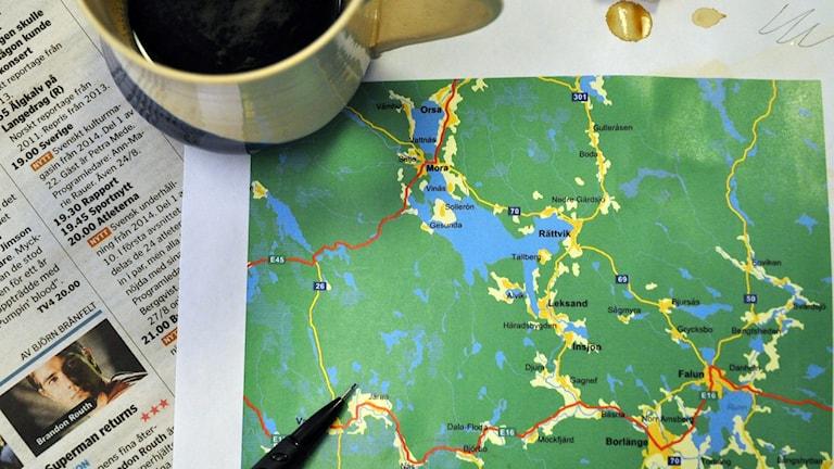 Var någonstans i Dalarna som Fide hamnar, det är lite oklart. Förbered dig på nedslag lite här och var. Foto: Tobia Gruhs / Sveriges Radio.