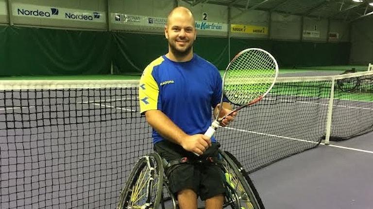 OS-mästaren i rullstolstennis, Stefan Olsson