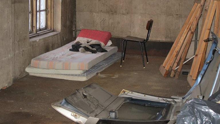 En bild från en fastighet där tiggarna har bott