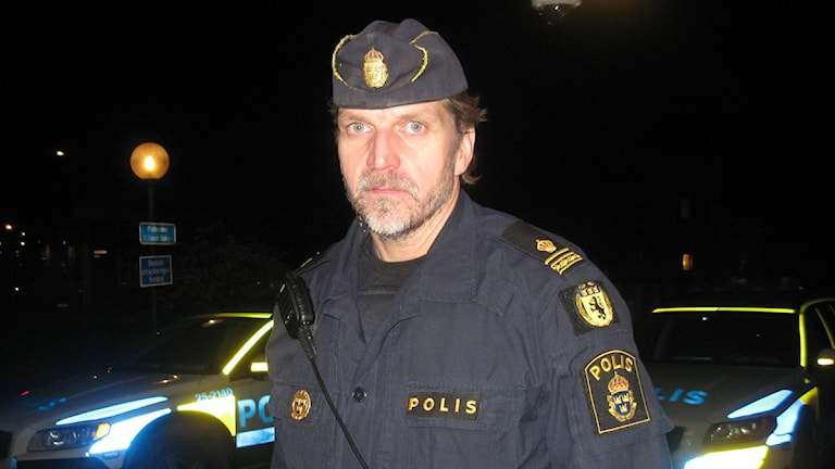 Anders Gustavsson, yttre befäl vid polisen Dalarna. Foto: Stefan Ubbesen/Sveriges Radio