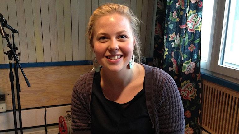 Psykolog Sofia Djusberg pratade om kognitiv beteendeterapi. Foto: Sveriges Radio