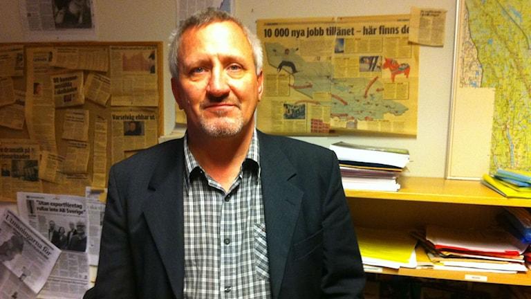 Conny Danielsson, kompetensförsörjningsstrateg på Region Dalarna. Foto: Kristian Åkergren/Sveriges Radio.