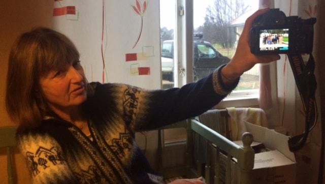 Biståndsambassadör Anita Boman i Hansjö, Orsa. Foto: Sveriges Radio