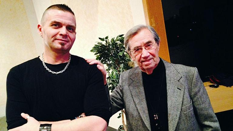 Johnny Höglin, exnazist, Emerich Roth, överlevare från Förintelsen