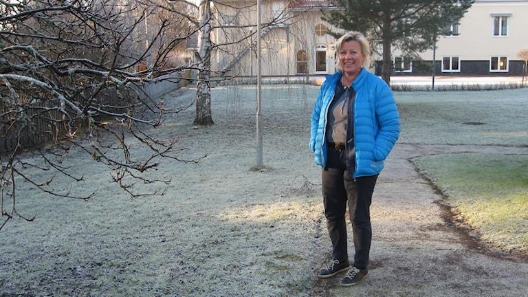 Carita Bäcklund, skogsförvaltare vid Orsa Besparingsskog. Foto Stefan Ubbesen.