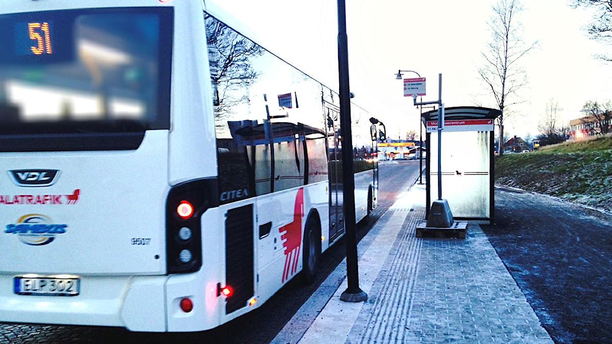 Buss 51 vid Mora resecentrum.