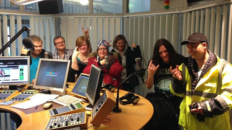 Glada ungdomar från DC-band. Foto: Karin Casslén.