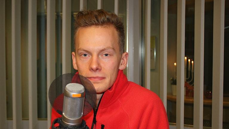 Marcus Sparring i egen hög person. Foto: Lars Svan