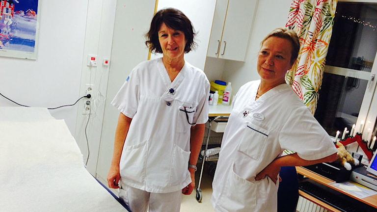 Lisbeth Halses Sivertsen och Helene Andersson, distriktssköterskor vid Sälens vårdcentral.