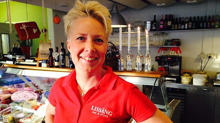 Anna Eriksson på restaurang Lissäng i Mora