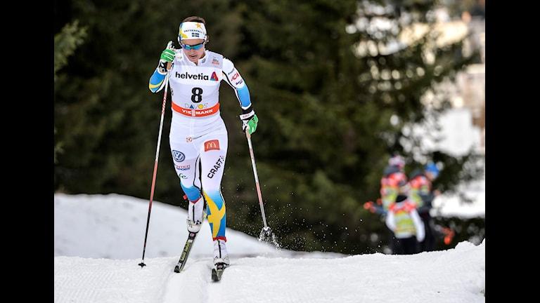 Anna Haag blev bästa svenska med en fjärde plats. Foto: Anders Wiklund/TT.