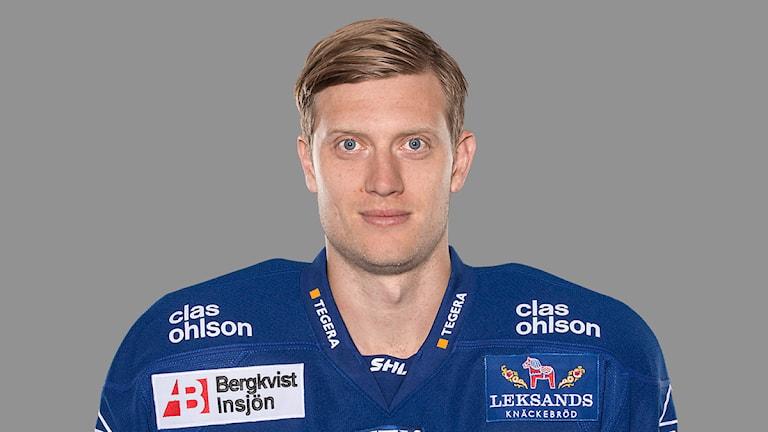 Leksands IF:s lagkapten Johan Ryno. Foto: Stig Kenne/TT