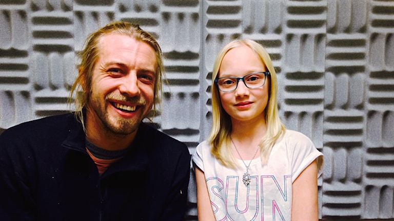 Johan Kristofferson och Linnéa Hansson i Mora Klätterklubb. Foto: Sveriges Radio