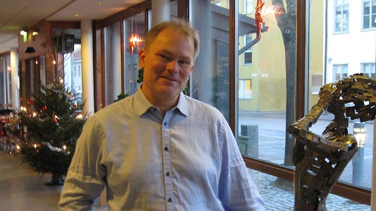 Joakim Holback, chef för Länsstyrelsen Dalarnas bredbandskansli. Foto: Stefan Ubbesen/Sveriges Radio