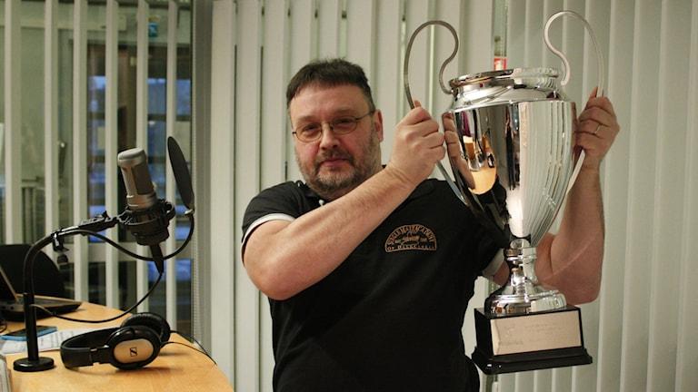 Per Eriksson från Borlänge, svenskmästare i whiskeykunskap. Foto: Elina Mattsson.