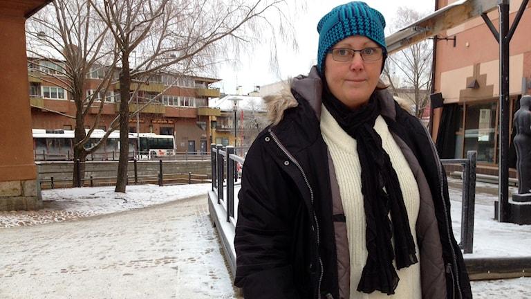 Bussresenären Karin Norström tycker synd om busschaufföreran. Foto: Eva Rehnström