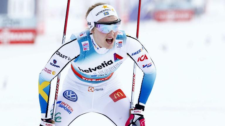 Stina Nilsson i Tour de ski. Foto: TT