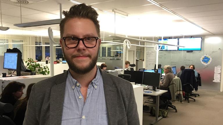 Carl-Johan Bergman är chefredaktör och ansvarig utgivare på Dalarnas Tidningar. Foto: Kristian Åkergren/Sveriges Radio.