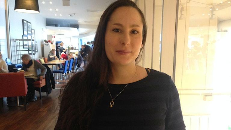 Ann-Sofie Sterio verksamhetsansvarig på kvinnojouren Borlänge- Säter. Foto: Salam Abu-Iseifan