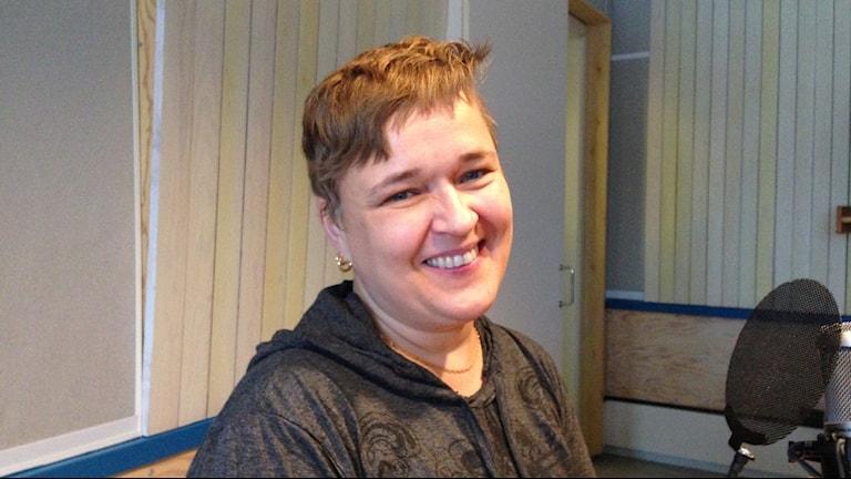 Karin Tesser från Borlänge i P4 Dalarna Förmiddags sexsnack. Foto: Sveriges Radio