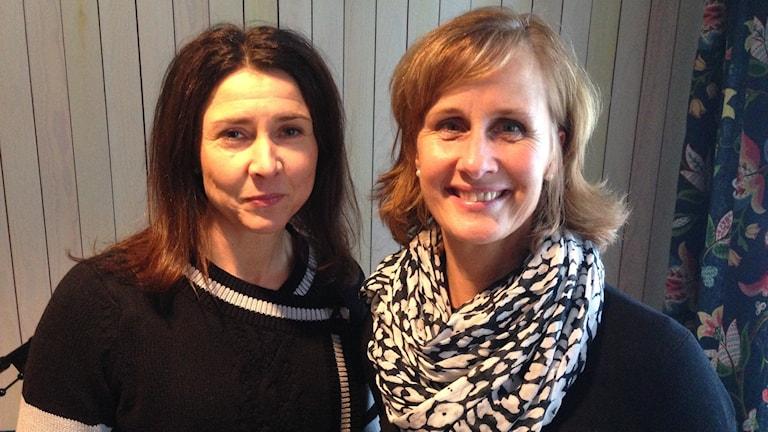 Catharina Jonsson och Eva Lignell från Dalarnas idrottsförbund och SISU idrottsutbildarna. Foto: Sveriges Radio.