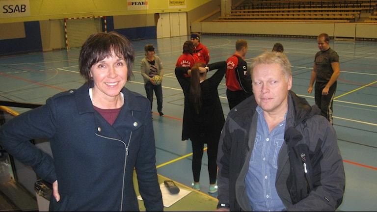 Helena Magnusson och Ola Brossberg. Foto: Sveriges Radio