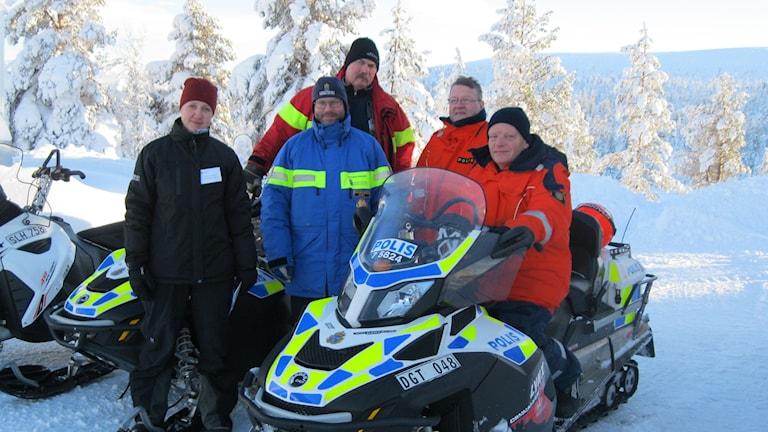 Länsstyrelsen, polisen och Malung-Sälens kommun vill att fler åker skoter lagligt. Foto: Anna Lindgren