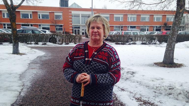 Susanne Borg, Synskadades Riksförbund, vill att utredningen om färdtjänsten ska bli klar. Foto: Anna Lindgren