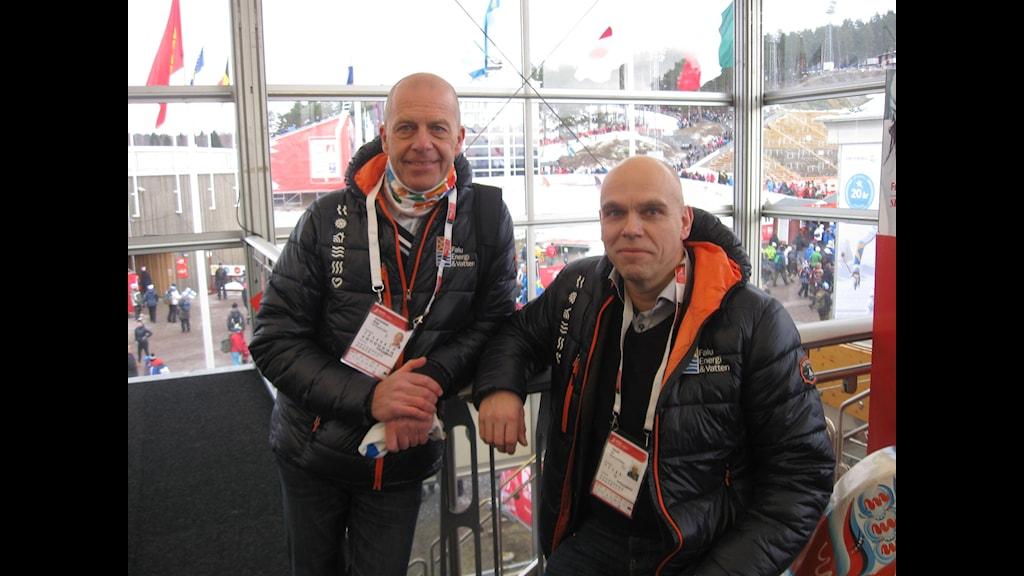 Bengt Gustafsson och Jan Fahlén på Falu Energi. Foto: Stefan Ubbesen