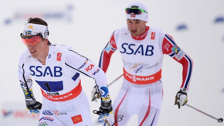Calle Halfvarsson och Petter Northug