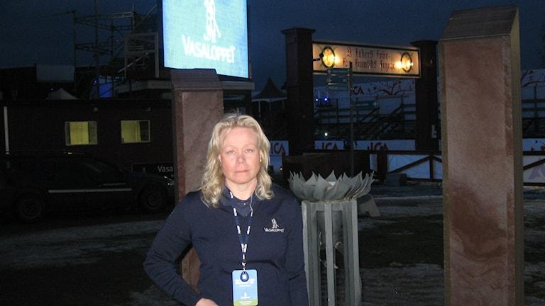 Maria Gustavsson, tävlingsledare för Tjejvasan. Foto Stefan Ubbesen