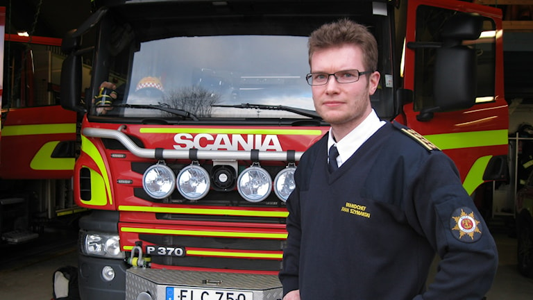 Johan Szymanski, räddningschef på Mora Brandkår