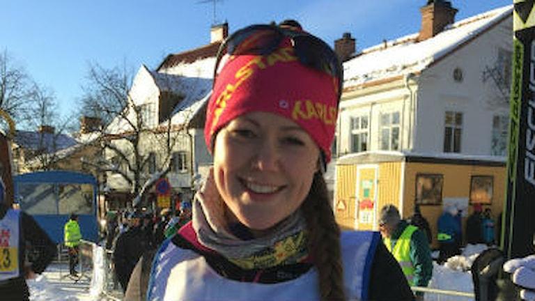 Emma Dalman åker Vasaloppet med ett nytt hjärta. Foto: Elina Mattsson/Sveriges Radio
